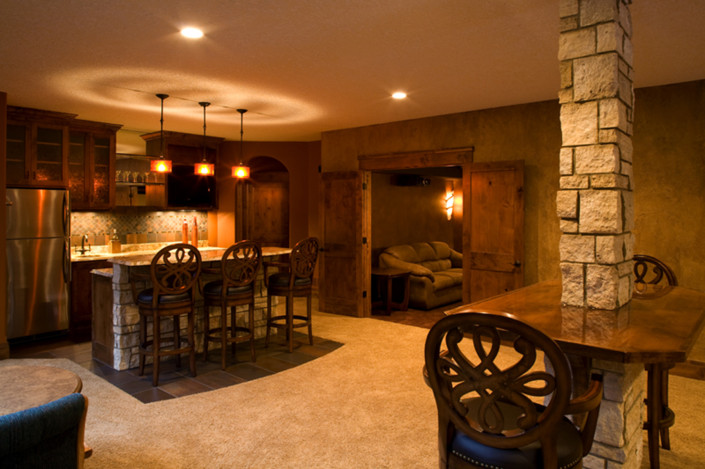 whole home remodeling, minnetonka mn basement detail EDG